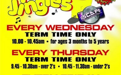 4 Jo Jingle's Music & Movement Classes Now Running at Escape – Starting Wednesday 6th January 2016