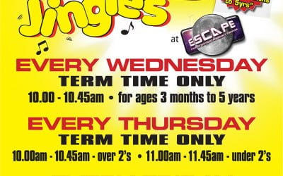 4 Jo Jingle's Music & Movement Classes Now Running at Escape – Please Check Availability