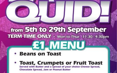 Kidz eat 4 a quid is returning on the 5th September – 29th :)