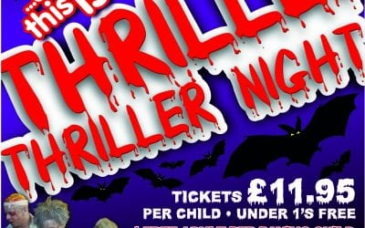 Halloween Party – Thriller Night 5 – 7pm this Saturday… 29th October