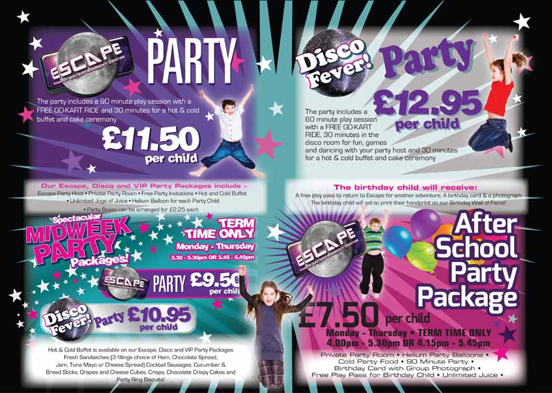 Escape…. The Ultimate Party Venue! Experience Escape's Party Packages :)