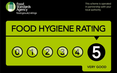 Another 5 Star Rating from our Annual Food Hygeine Inspection