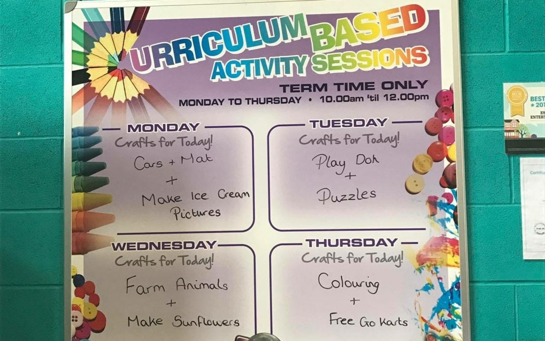 FREE Craft Activities Monday to Thursday 10 – 12pm Term Time Only