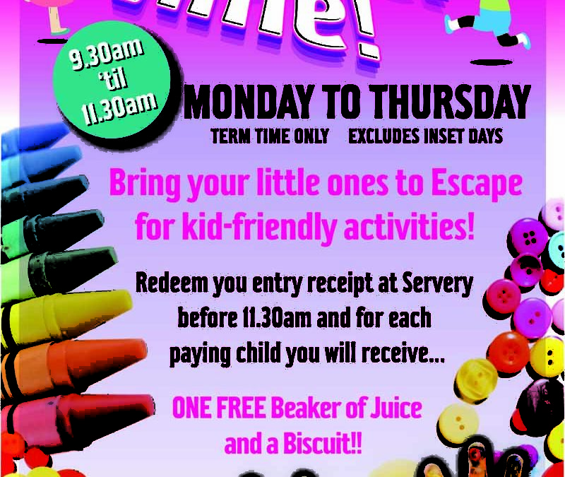 Toddler Time at Escape!
