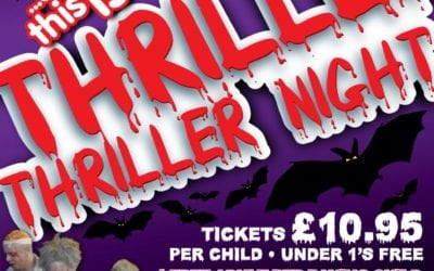 Escape's Thriller Night Halloween Party – Saturday 28th October 5 -7pm