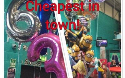 Themed and Numbered Balloons at Escape – Pop in and get yours!