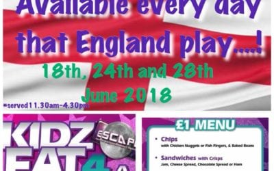 World Cup Promotion at Escape…. Kids Eat for a Quid!