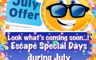HOT HOT HOT… Special Offer Days at Escape During July