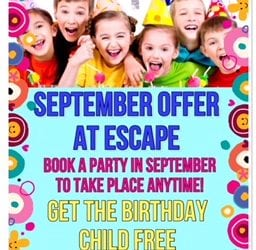 September Offer – PARTY CHILD FREE1