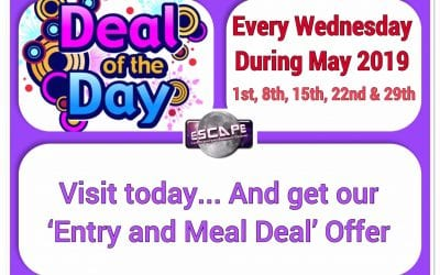 Deal of the Day…. Wednesday 29th May 2019 – All Day!