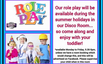 Role Play – Available in our Disco Room during the summer holidays