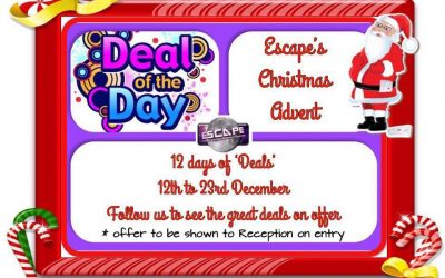 Escape's 12 Days of Christmas Offers – Deal of the Day!