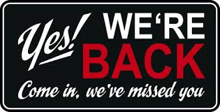 WE'RE REOPENING ON MONDAY 7TH SEPTEMBER